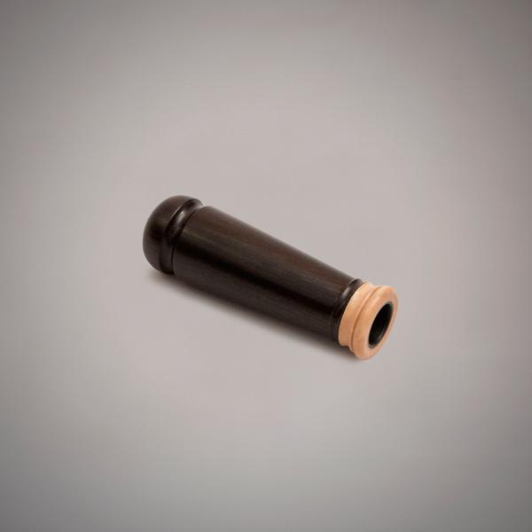 Buxa de ronqueta de madera de granadillo y anillado en buxo