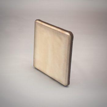 Pandeiro de pecho afinable fabricado en pino natural de 40x40 cm