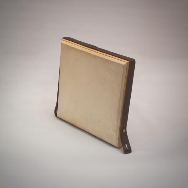 Pandeiro de pecho de pino natural de 36x36 cm