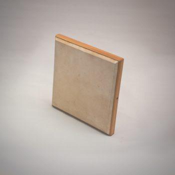 Pandeiro de mano de pino natural de 33x33 cm