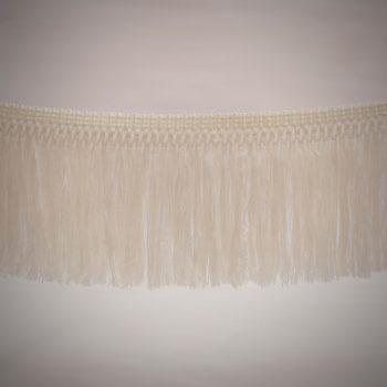 Fleco de hilo de 18 cm color blanco de 3-4 vueltas tupido