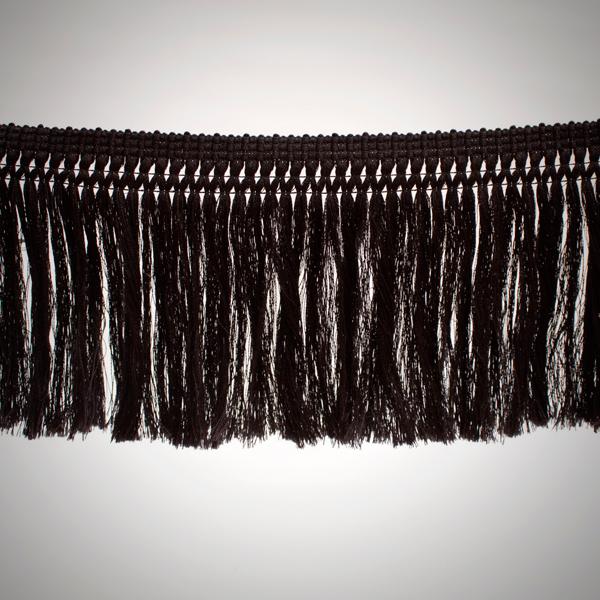 Fleco de hilo de 18 cm color negro de 3-4 vueltas tupido