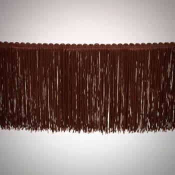 Fleco sencillo de 15 cm color marrón de 3-4 vueltas tupido