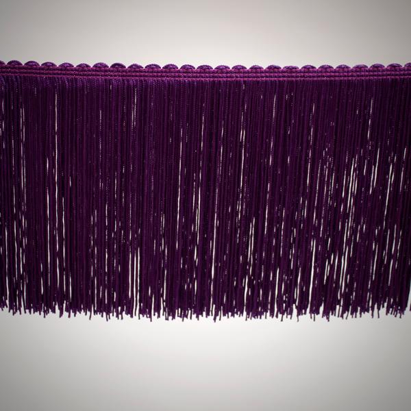 Fleco sencillo de 15 cm color violeta de 3-4 vueltas tupido