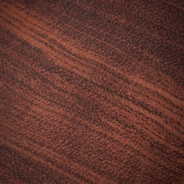 Detalle de madera de bubinga