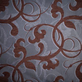 Tela gruesa brocada color gris y marrón para vestido para gaita