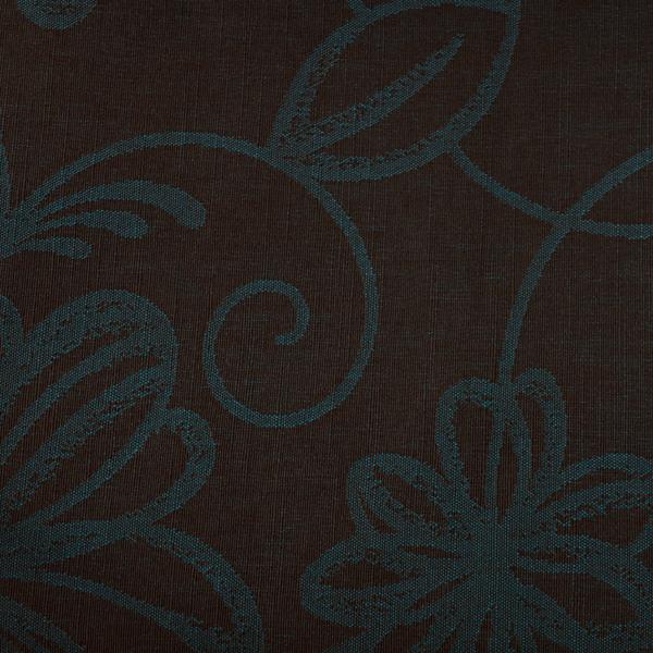 Tela semi-gruesa especial para vestido de gaita color oscuro con relieve en azul turquesa