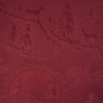 Tela semi-gruesa con motivo en relieve especial para vestido de gaita color granate
