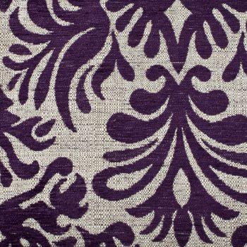 Tela gruesa brocada especial para vestido de gaita color crema-violeta