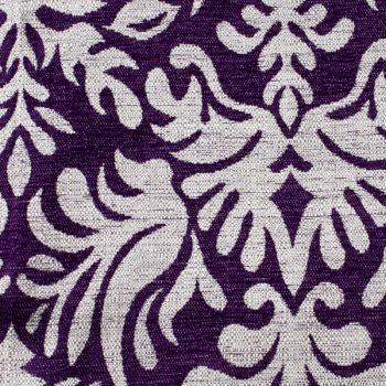 Tela gruesa brocada especial para vestido de gaita color violeta-crema