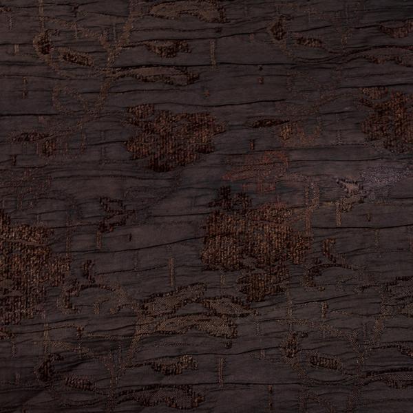 Tela semi-gruesa especial para vestido de gaita color marrón oscuro-negro