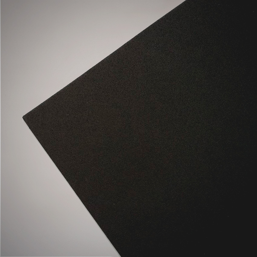 Detalle de corcho sintetico negro