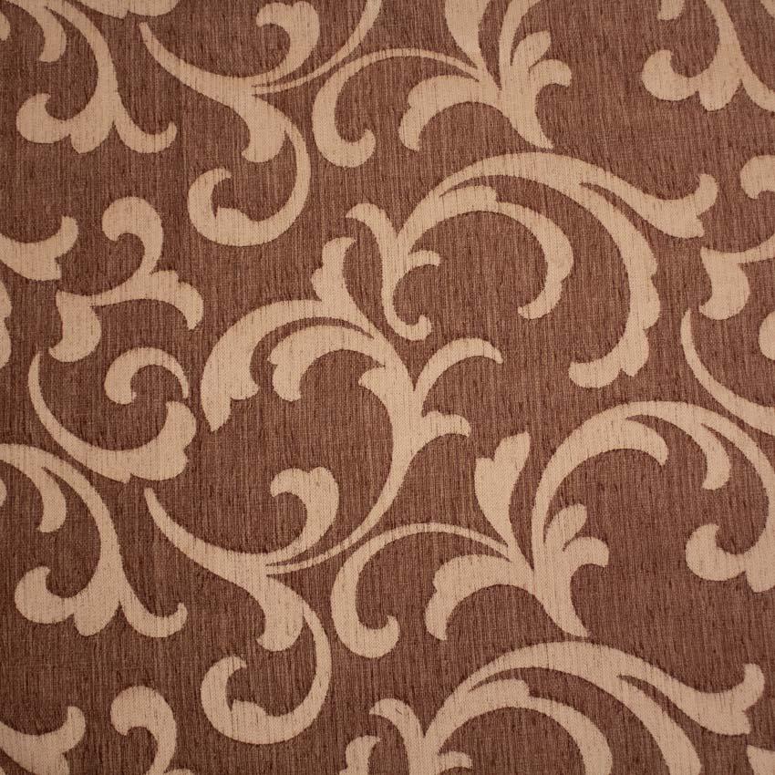 Tela brocada marrón-beige para vestidos gaita