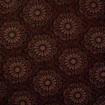 Tela brocada oro-marrón para vestidos gaita