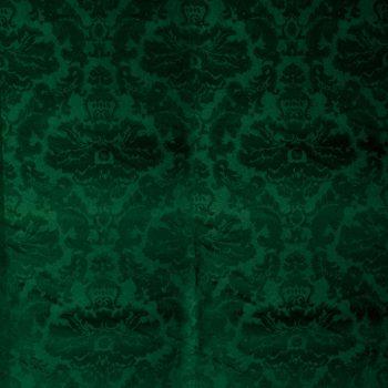 Tela estampada verde para vestidos gaita