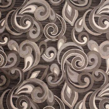 Tela brocada en tonos grises para vestidos gaita