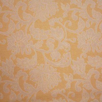 Tela brocada blanco roto-beige para vestidos gaita